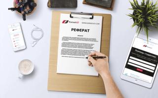 План реферата (образец составления): Услуги по написанию