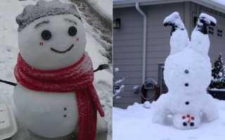 Самые необычные снежные скульптуры: подборка фото